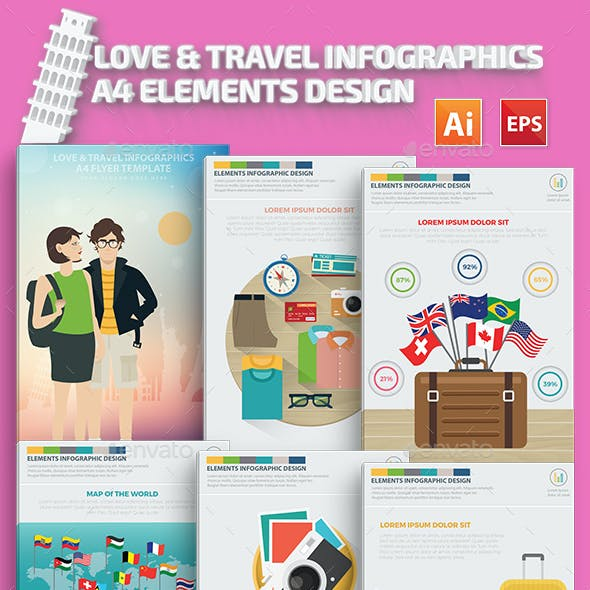 A4 Infographic Templates from GraphicRiver