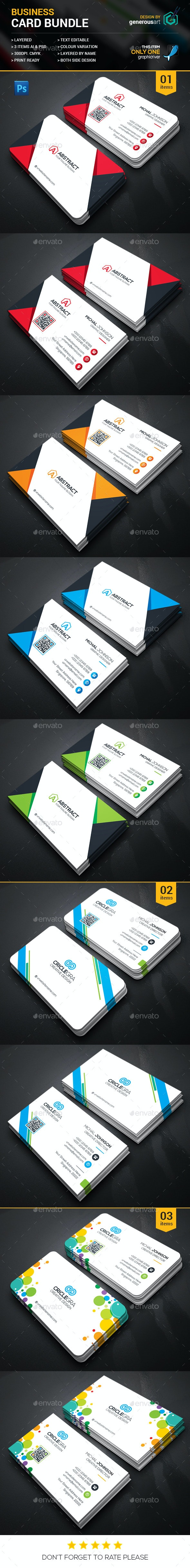 Business Card Bundle 3 in _1 - Corporate Business Cards