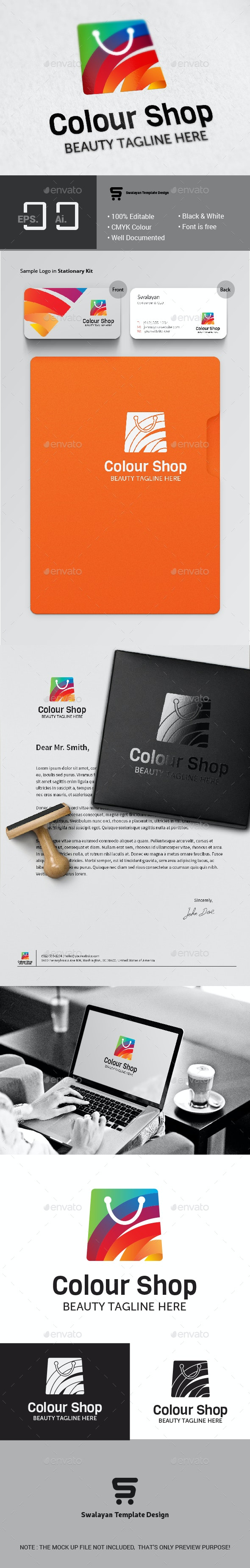Colour Shop Logo - Abstract Logo Templates