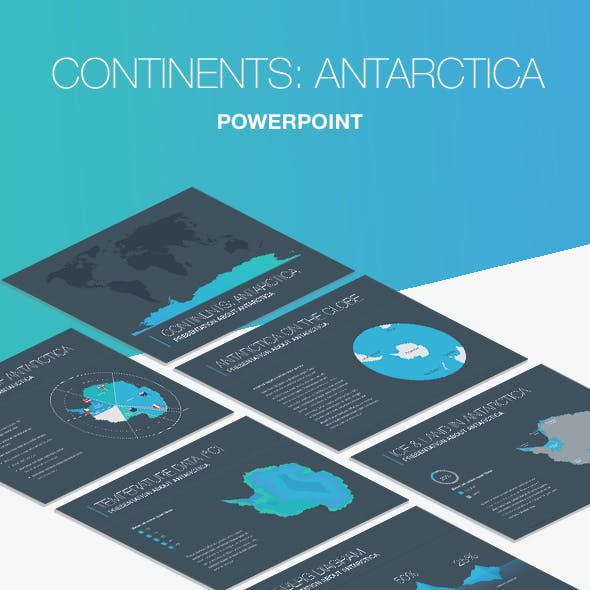 Continents: Antarctica PowerPoint Template