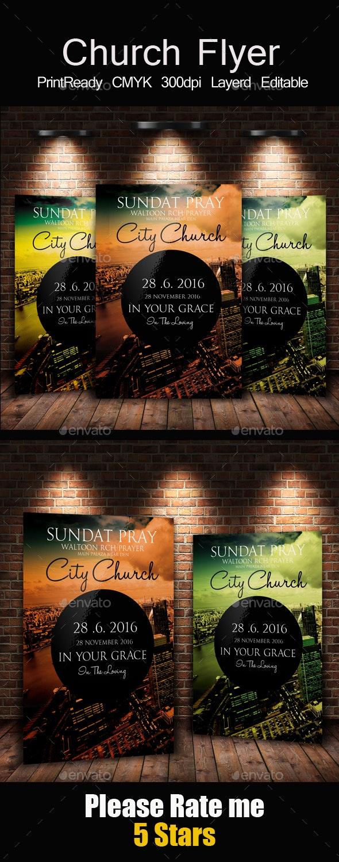 Risen Church Flyer & Poster - Church Flyers