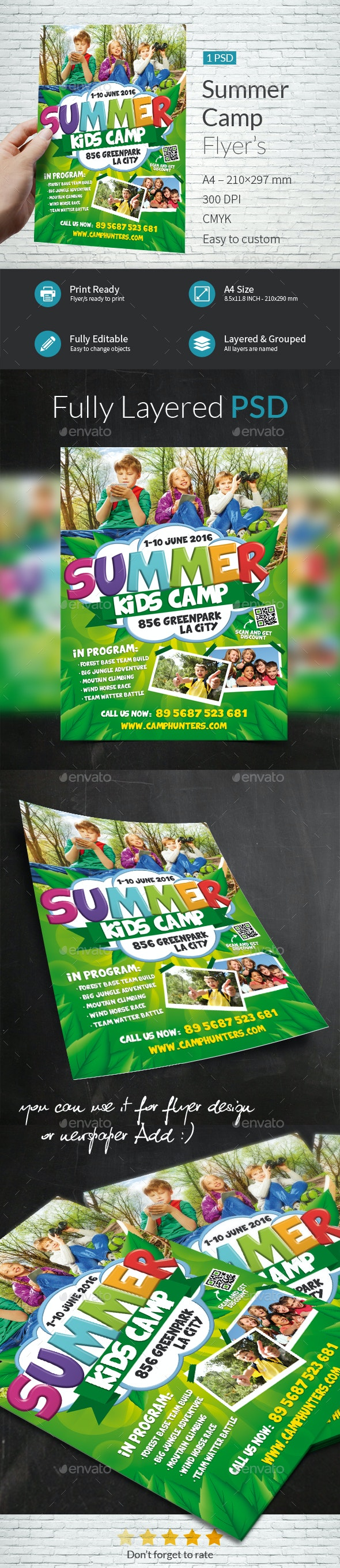 Summer Camp Flyer Template - Flyers Print Templates