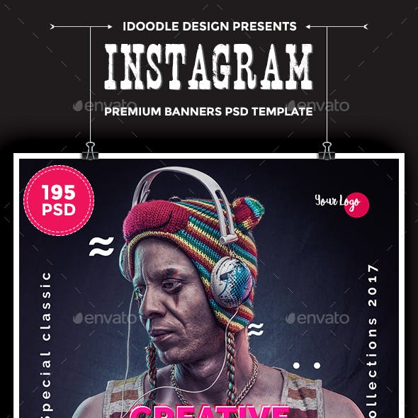 Promotion Instagram Banners Ads - 195 PSD