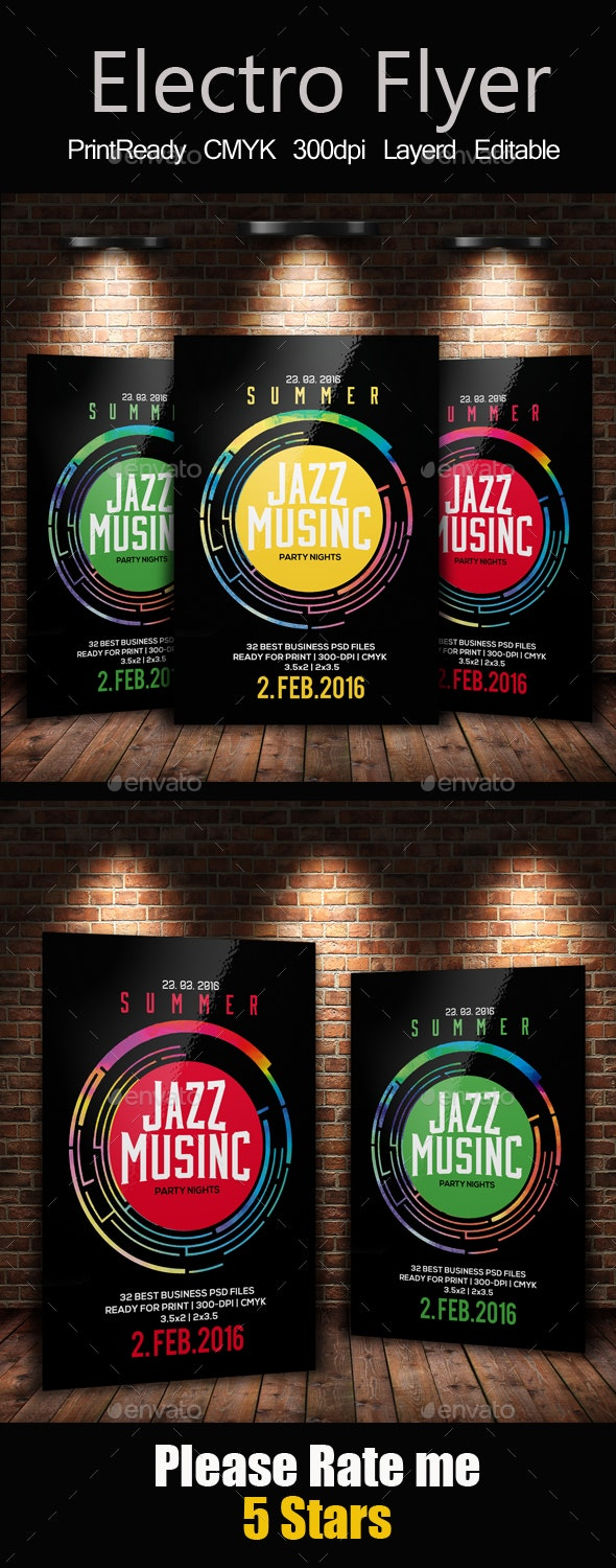 Jazz Event Flyer / Poster - Clubs & Parties Events
