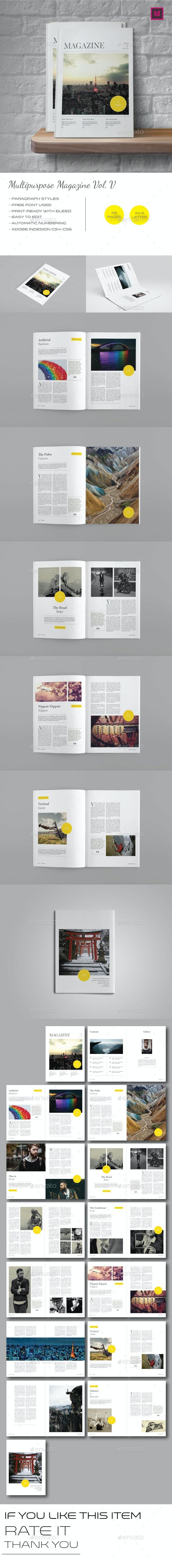Multipurpose Magazine Template Vol.V - Magazines Print Templates