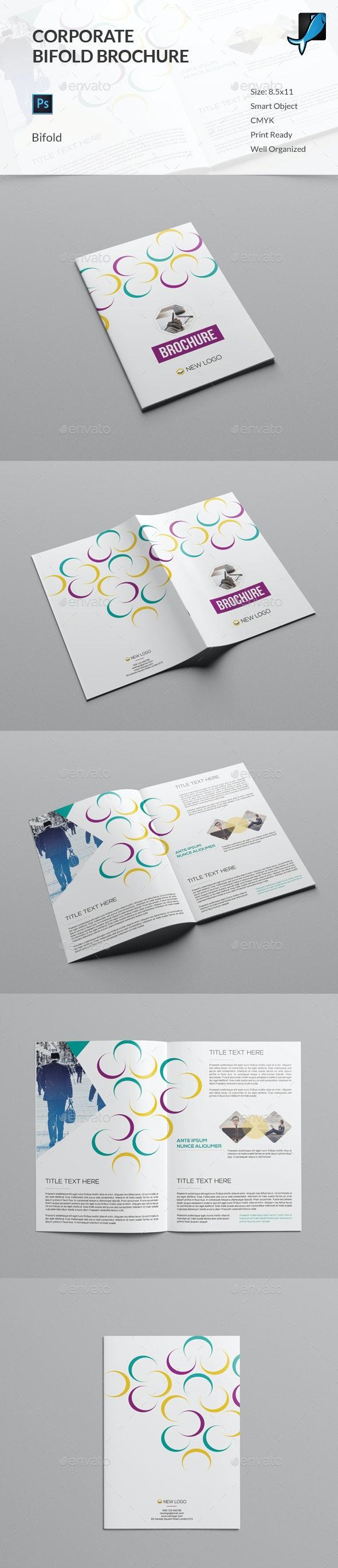 Colorful Corporate Bifold Brochure - Corporate Brochures
