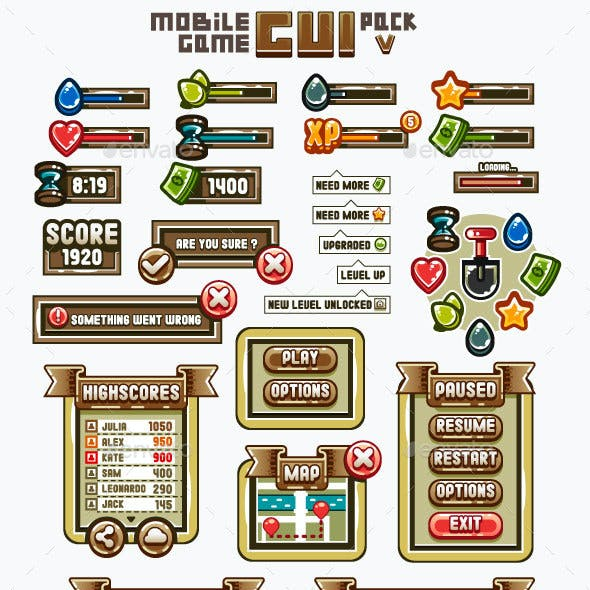 Mobile Game GUI Pack 5