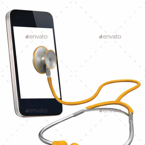 Phone with Stethoscope