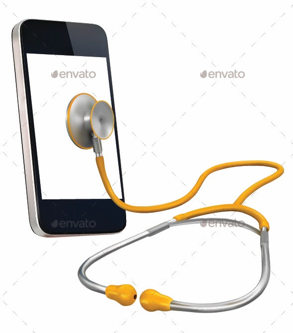 Phone with Stethoscope - Computers Technology