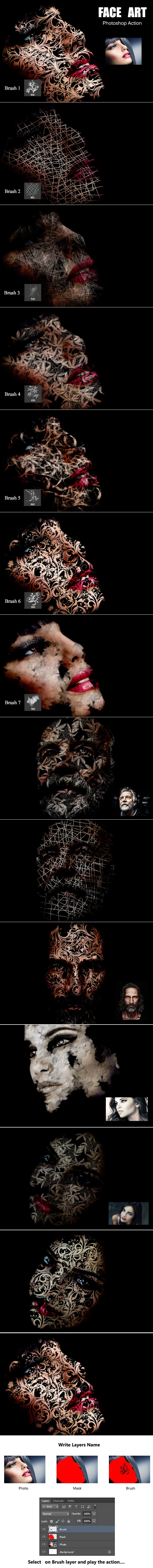 Face Art - Photoshop Add-ons