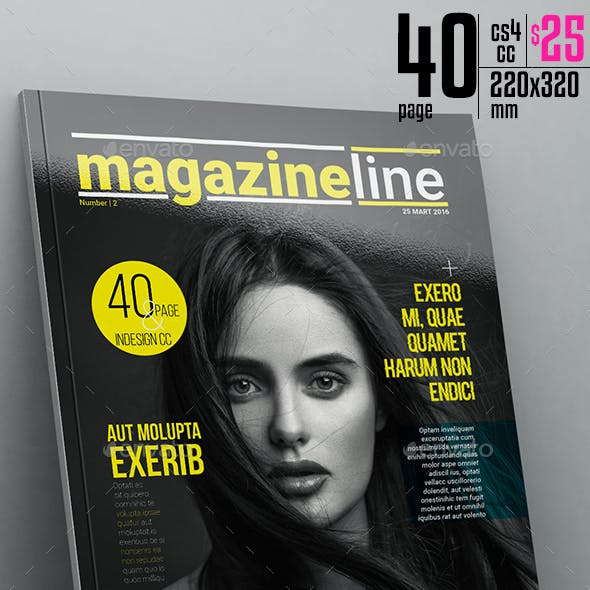Magazine Line Template 40 Page