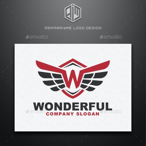 Wonderful - Letter W / Wing Logo