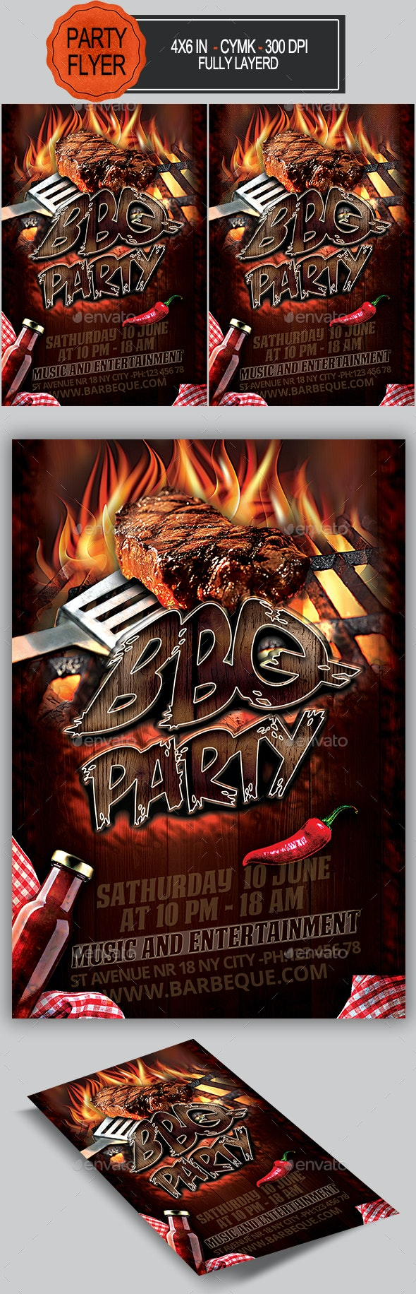 BBQ Flyer - Clubs & Parties Events