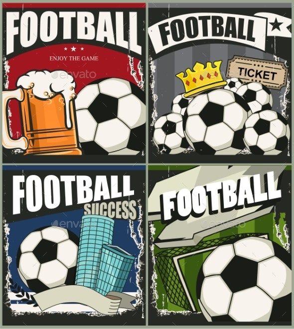 Football Retro Banners - Sports/Activity Conceptual