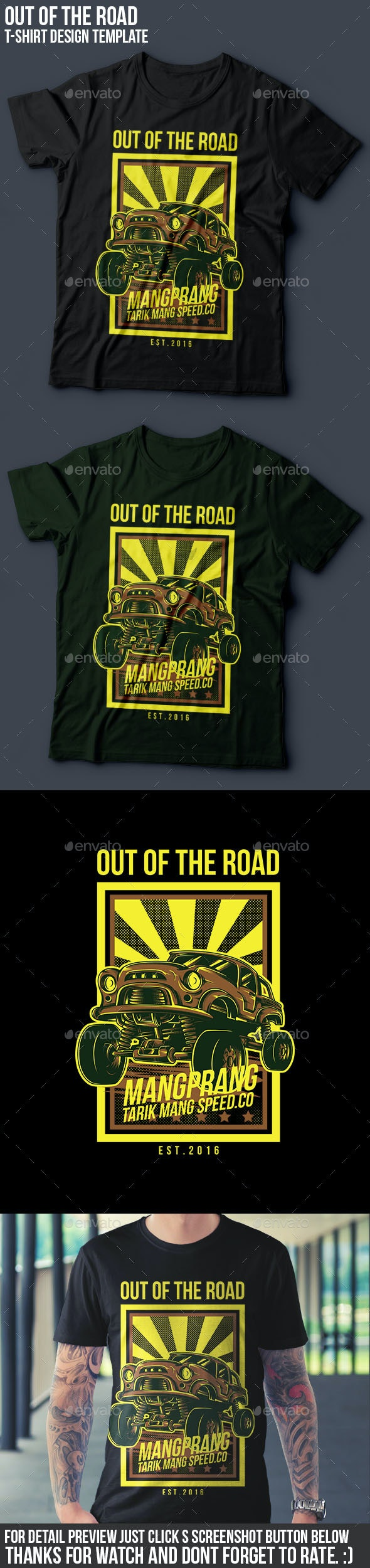 Out of the Road T-Shirt Design - Events T-Shirts