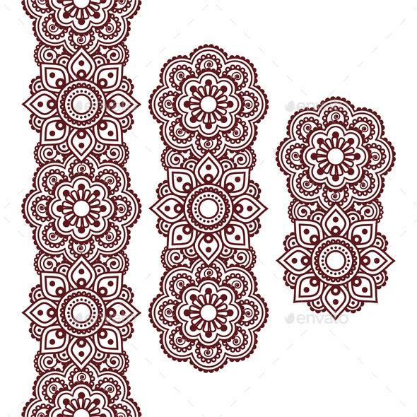 Mehndi Indian Henna Pattern - Patterns Decorative