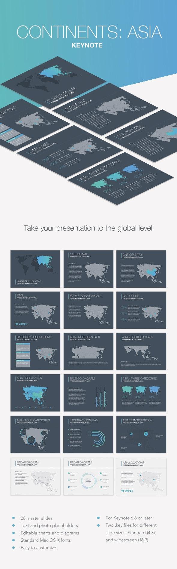 Continents: Asia Keynote Template - Keynote Templates Presentation Templates