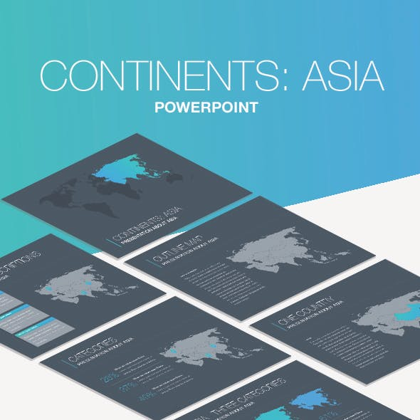 Continents: Asia PowerPoint Template