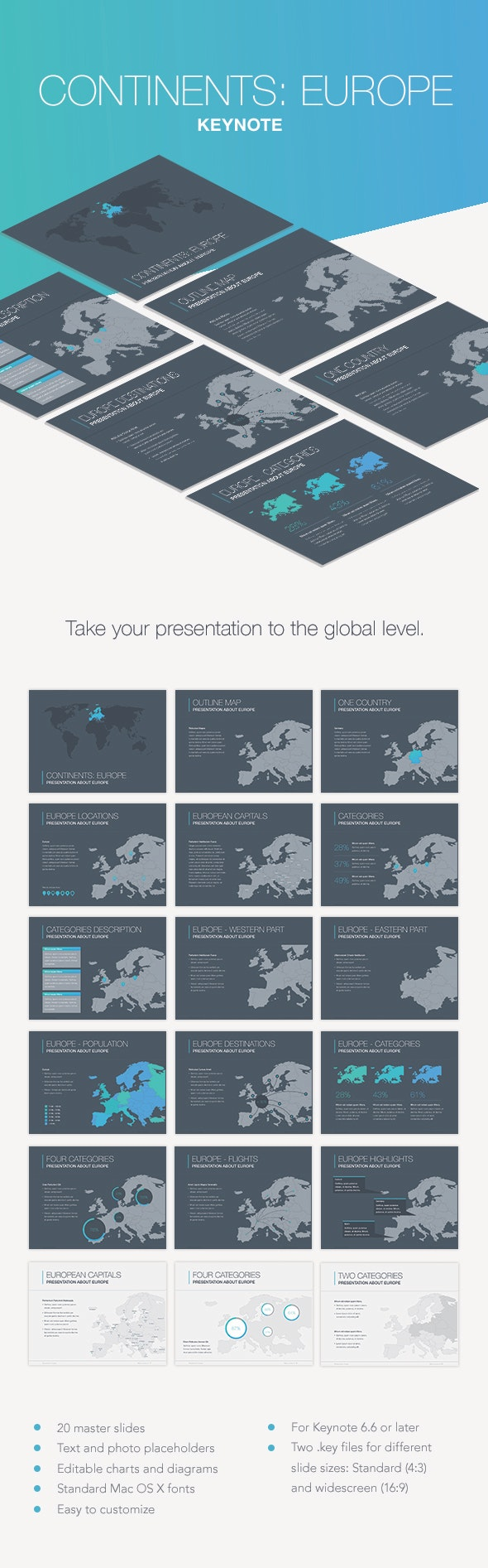 Continents: Oceania Keynote Template - Keynote Templates Presentation Templates