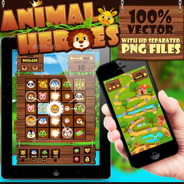 Animal Heroes Game UI Pack