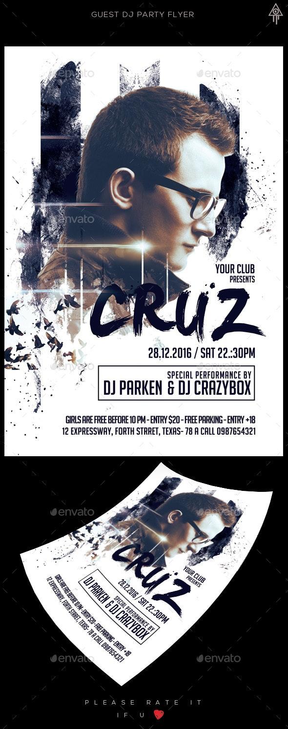 Guest Dj Flyer - Clubs & Parties Events