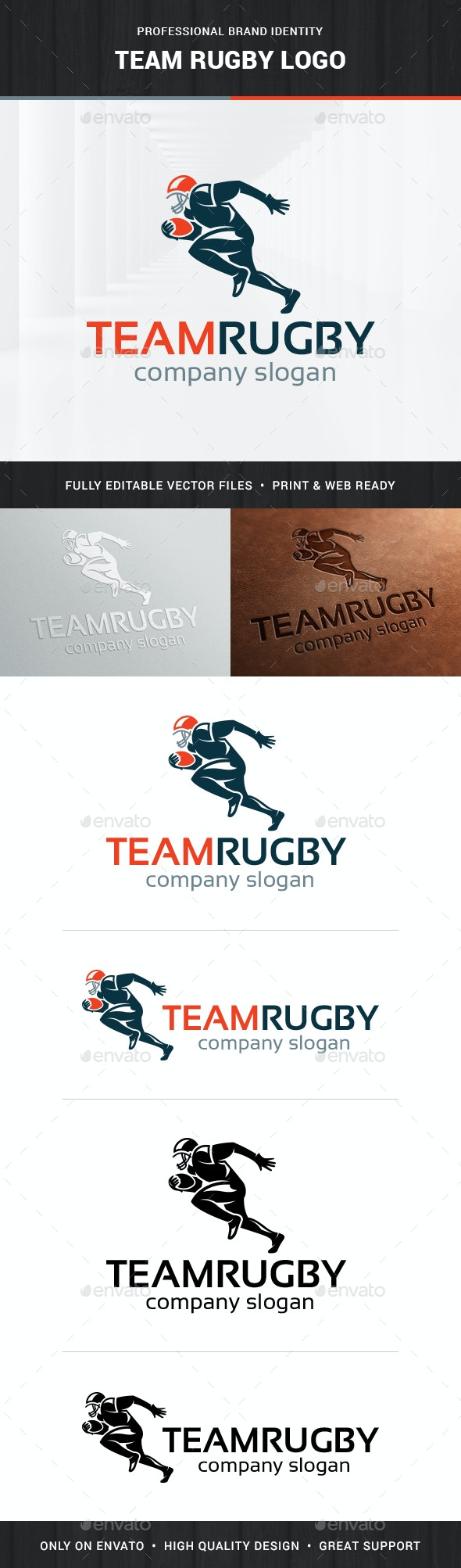 Team Rugby Logo Template - Humans Logo Templates