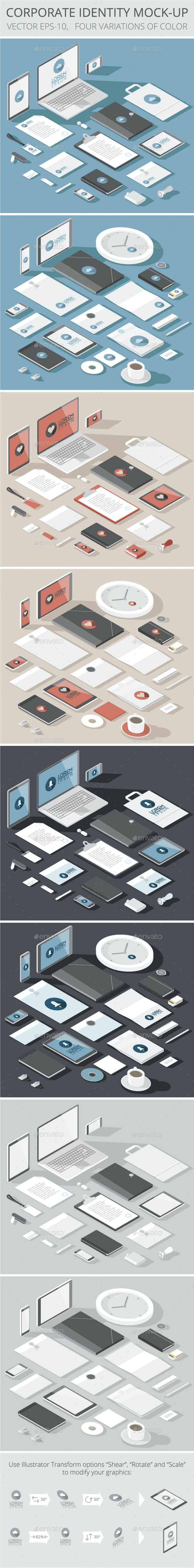 Corporate Identity Mock-up Template - Concepts Business