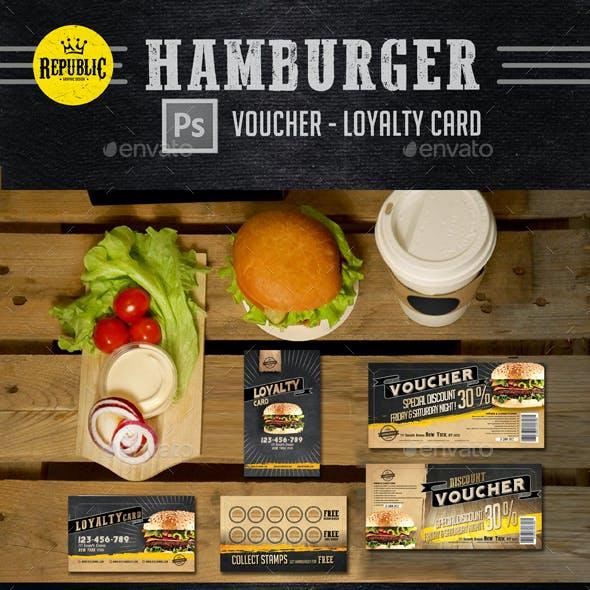 Hamburger Voucher Loyalty Card