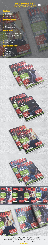 Photography Magazine Covers V.03 - Magazines Print Templates