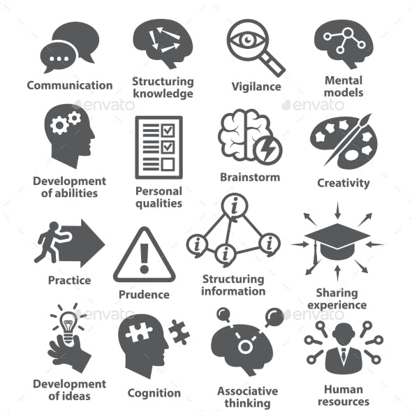 Business Management Icons. Pack 08.
