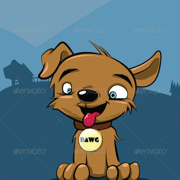 Vector Puppy Dog Illustration