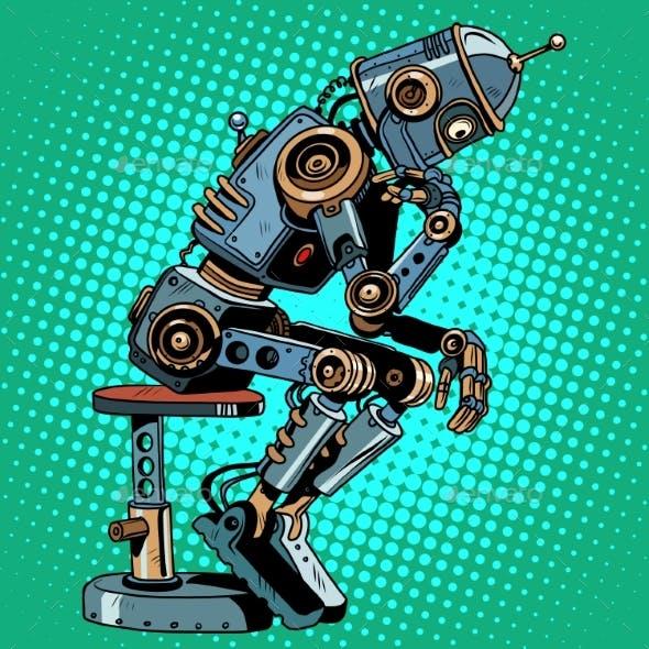 Robot Thinker Artificial Intelligence Progress