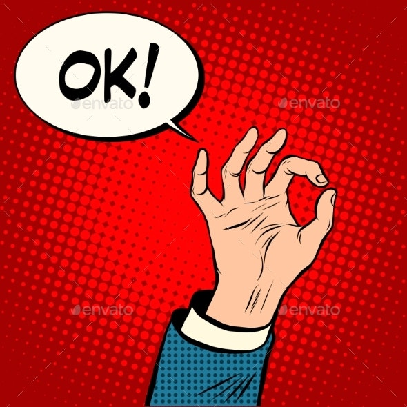 Hand OK Gesture Business Concept - Concepts Business