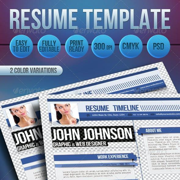 Professional Resume Timeline