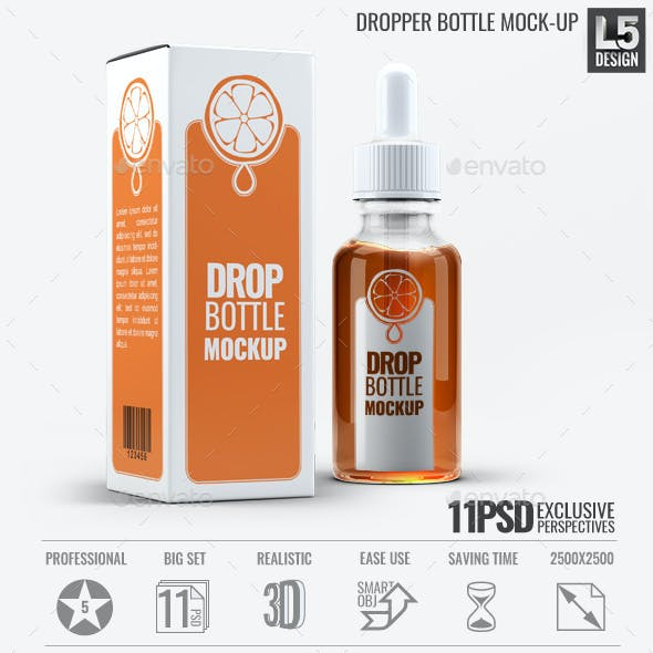 Dropper Bottle Mock-Up