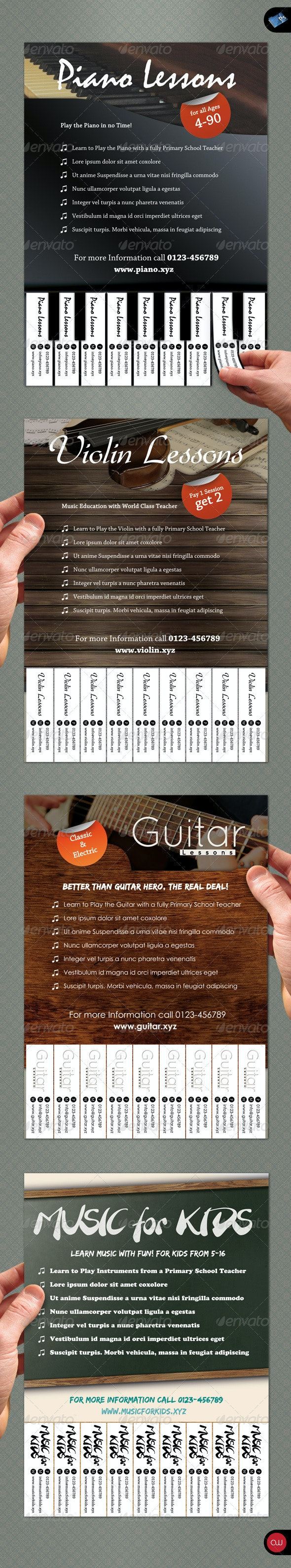 Tear-Off Flyer - Vol.1 - Music - Commerce Flyers