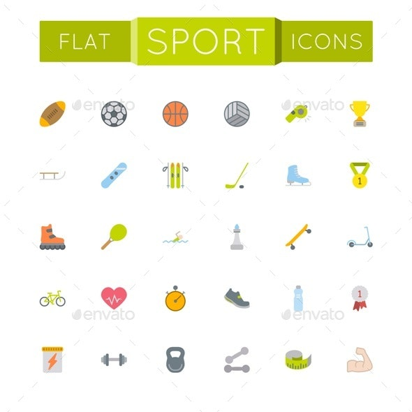 Vector Flat Sport Icons - Miscellaneous Icons
