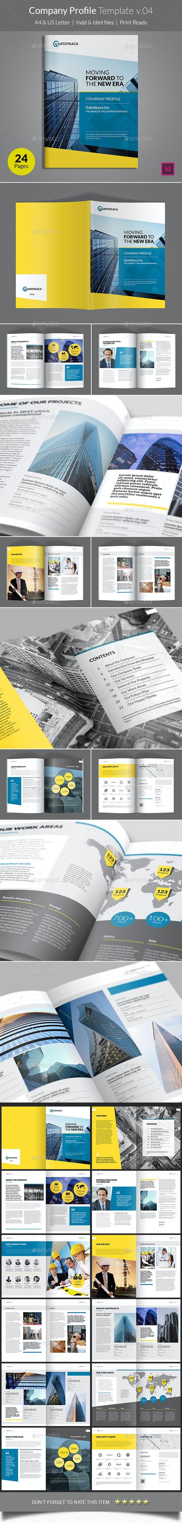 Company Profile Template v04 - Corporate Brochures
