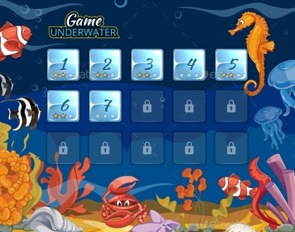 Submarine Computer Game With User Interface - Miscellaneous Vectors