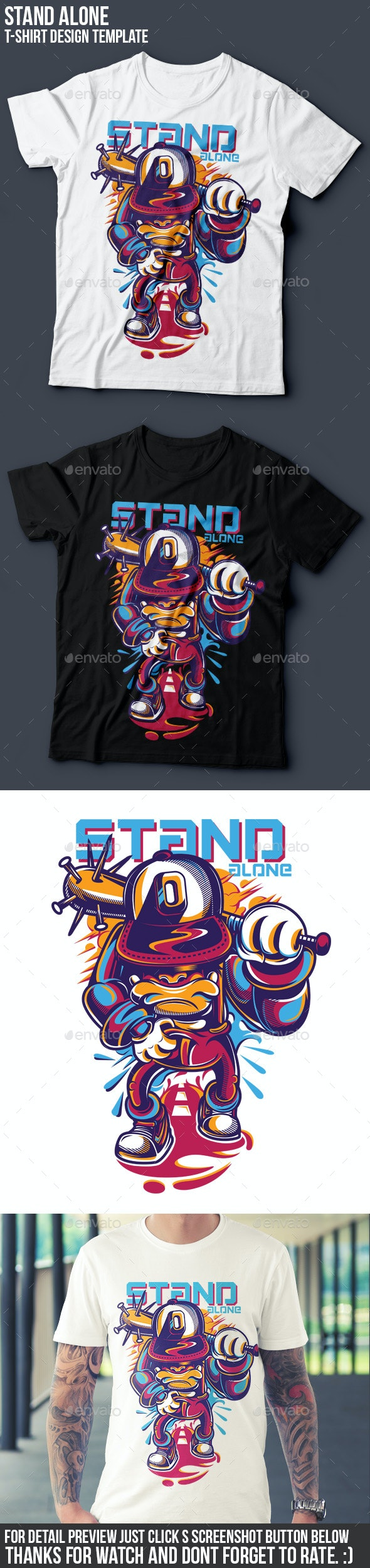 Stand Alone T-Shirt Design - Funny Designs