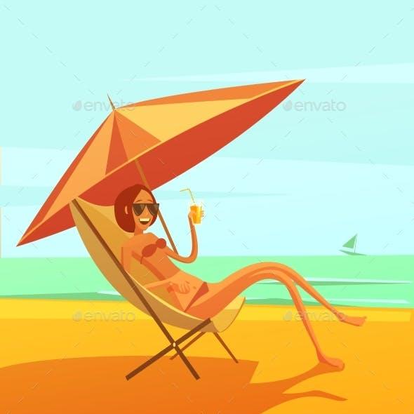 Rest At Sea Illustration