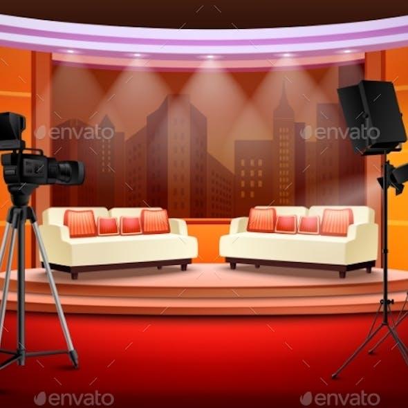 Talk Show Studio Interior