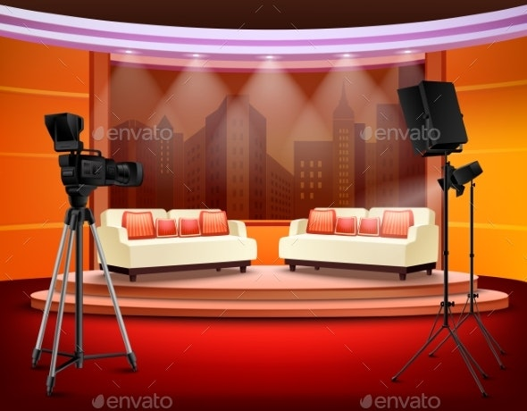 Talk Show Studio Interior - Buildings Objects