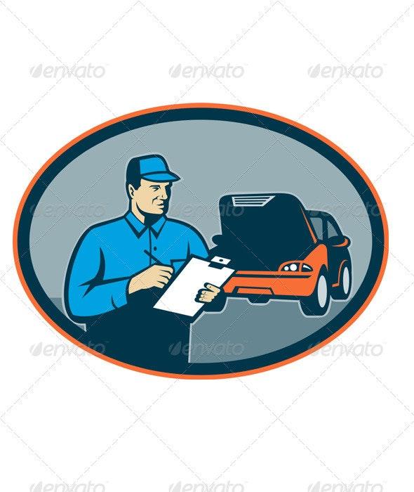 Automotive Mechanic Repairman Repair Car - Industries Business