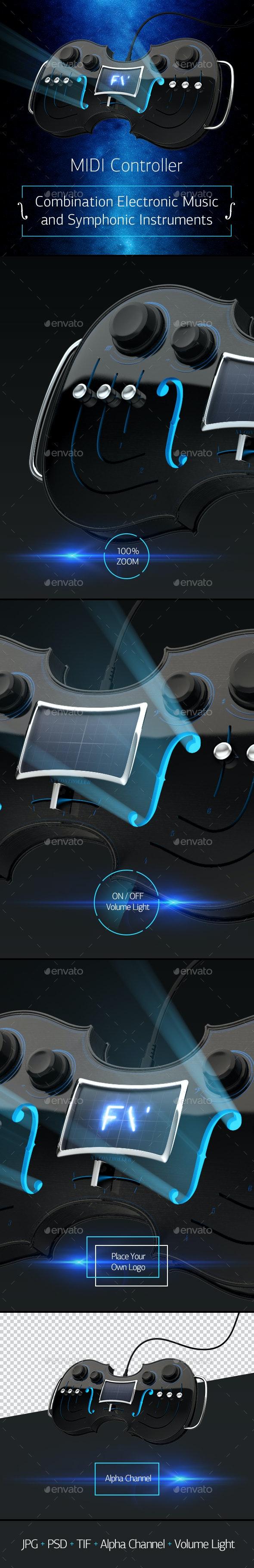 Midi Controller - Technology 3D Renders