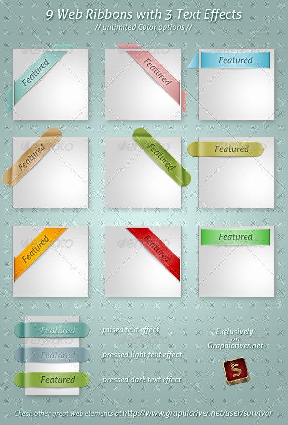 Web Ribbons - Miscellaneous Web Elements