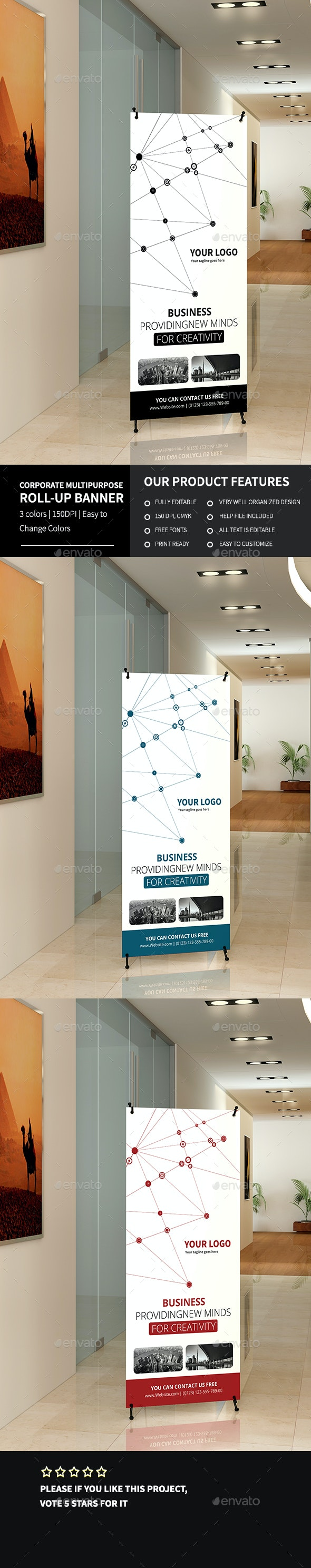 Corporate Multipurpose Roll-up Banner 2 - Signage Print Templates