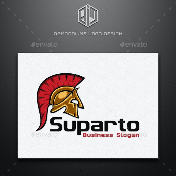 Suparto - Spartan Warior Logo