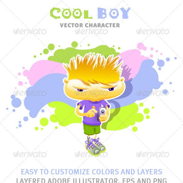 Cool Boy Vector