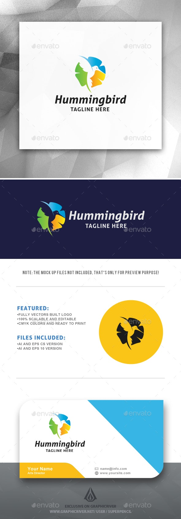Hummingbird Logo Template - Animals Logo Templates